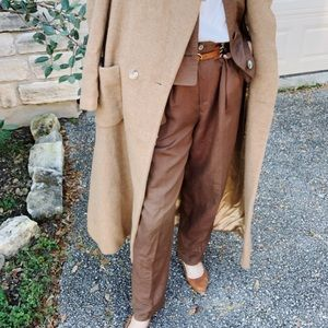 Pants - Vintage oversized brown two piece suit